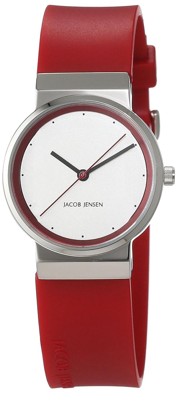 Jacob Jensen Damen-Armbanduhr Analog Quarz Kautschuk 32766