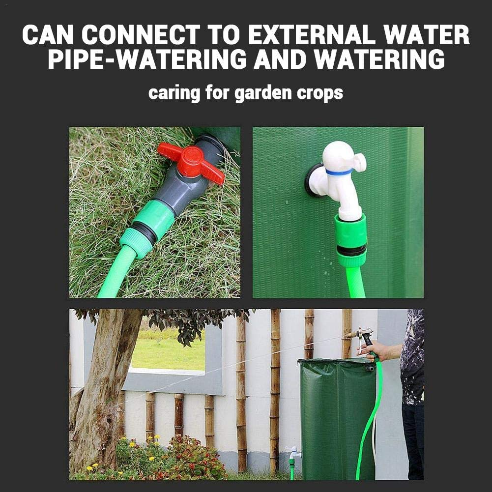 Portable Water Storage Bucket 100L talogca Collapsible Water Butt Water Catcher Container with Filter Spigot Overflow Kit