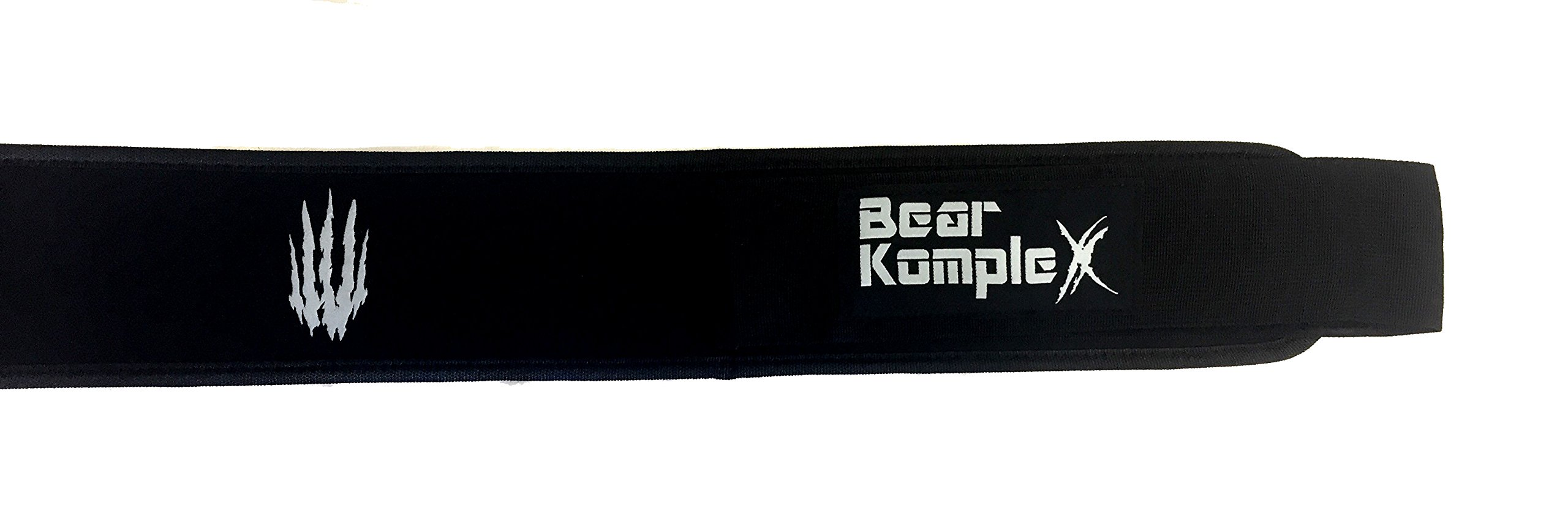 Bear KompleX 4'' Straight Weightlifting Belt for Powerlifting, Squats, Weight Training and More. Low Profile with Super Firm Back for Maximum Stability & Exceptional Comfort. Straight Black S by Bear KompleX (Image #5)
