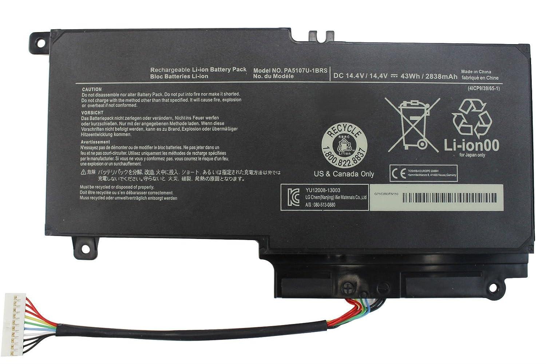 Amazon.com: LNOCCIY 14.4V 2838mAh Laptop Battery for Toshiba Satellite  P55-a5312 P55-a5200 P55t-a5202 P55t-a5116 L55-a5226 S55-a5236 S55-a5275  S55-a5294 ...