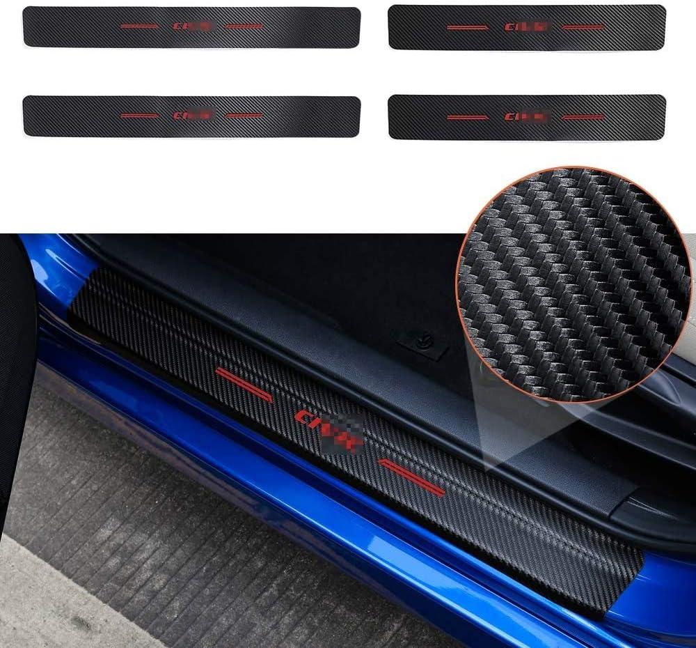 L/&U 4PCs Car Door Sill Scuff Plate Protector Carbon Fiber Sticker For Honda Accessories,Civic