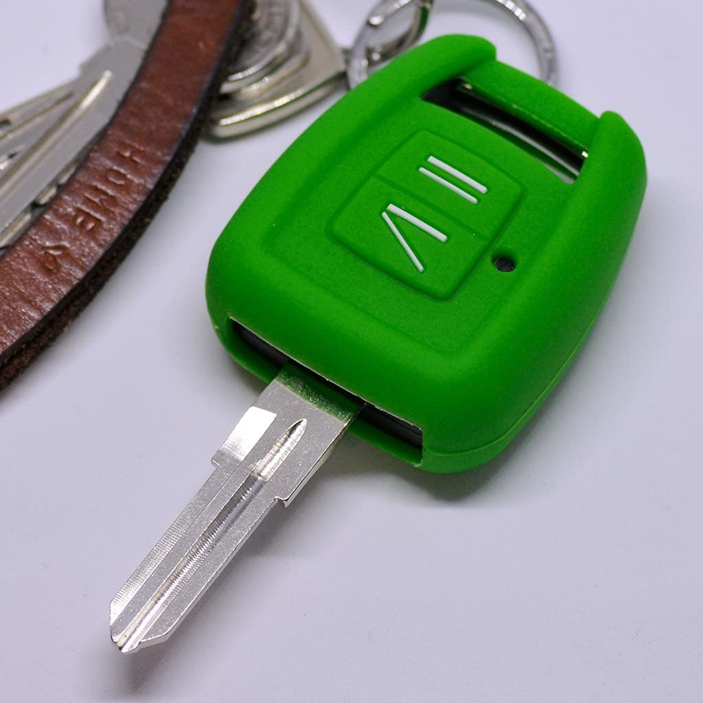 Soft Case Estuche Protector Opel Zafira A Llave del Coche Astra G Vauxhall Llave remota/Color Verde: Amazon.es: Electrónica