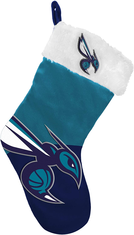 FOCO NBA Charlotte Hornets Holiday StockingBasic 2018, Team Colors, One Size