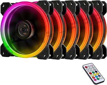 EASYDIY 5-Pack 120mm Computer Case PC Ventilador, RGB LED ...