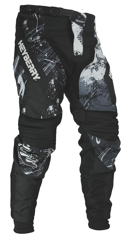 HEYBERRY Motocross Enduro Quad Hose schwarz weiß Gr. XXL 5341-W-XXL