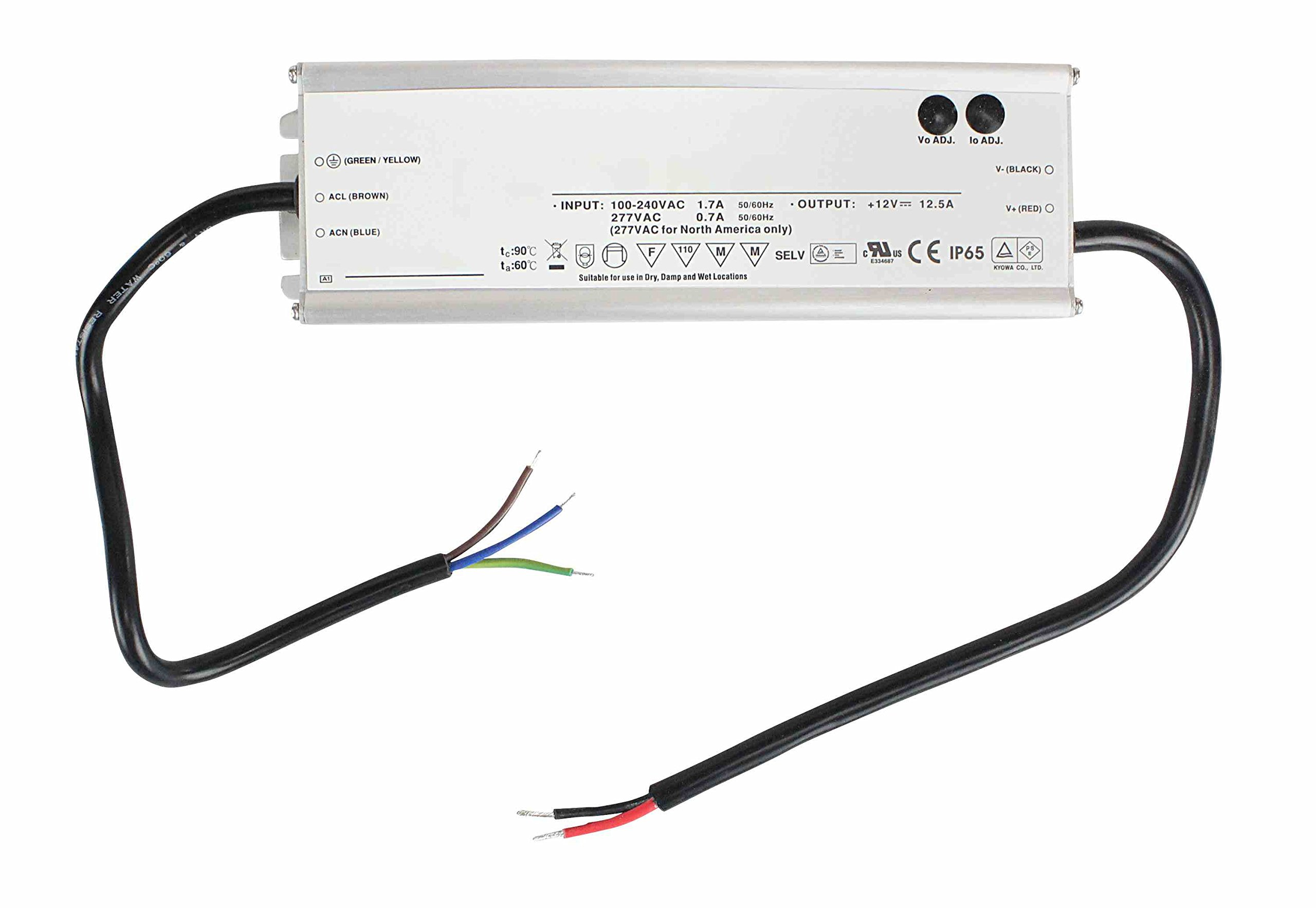 Larson Electronics Waterproof Transformer Converts 120V-277V AC To 24V Dc 6.25 Amps Max