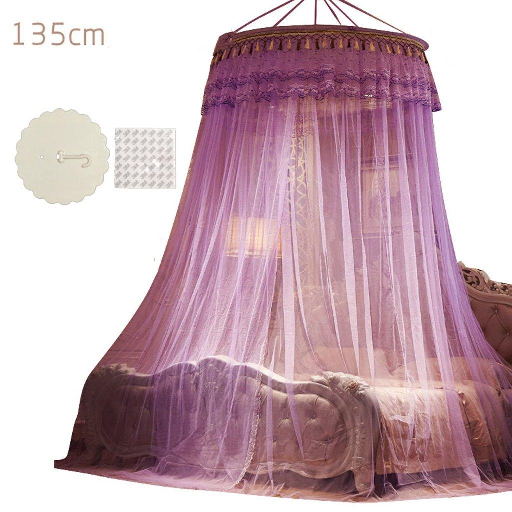 ブルー/ピンク 1.2m/パープル (4/イエロー feet)/ヒスイ色135cmドーム直径天井吊り天井蚊帳フロア立てフックセクション100%ポリエステル繊維の増加暗号化簡易寝床高さ2.8m (色 : パープル ぱ゜ぷる, サイズ さいず : 1.2m (4 feet) bed) 1.2m (4 feet) bed パープル ぱ゜ぷる B07F1842TX, ニシビワジマチョウ:65bcb51c --- 2chmatome2.site