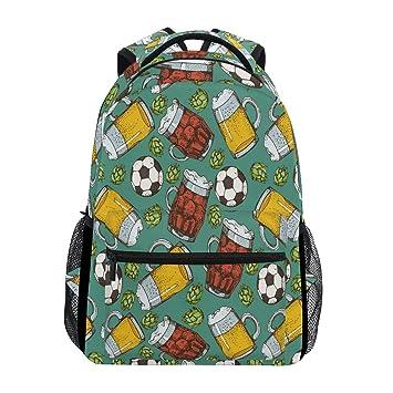 Wamika Mochila para balón de fútbol con diseño de Cerveza ...