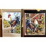 Farmyard Rooster Kitchen Decorative Magnets, Multi, Dishwasher