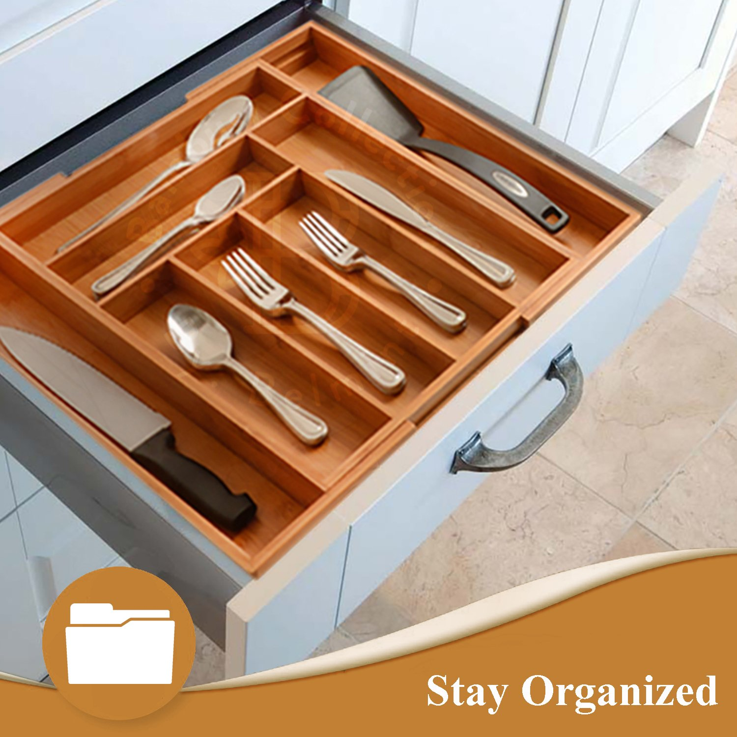 double organization tool layer utensil drawer supply or pin flatware junk organizer