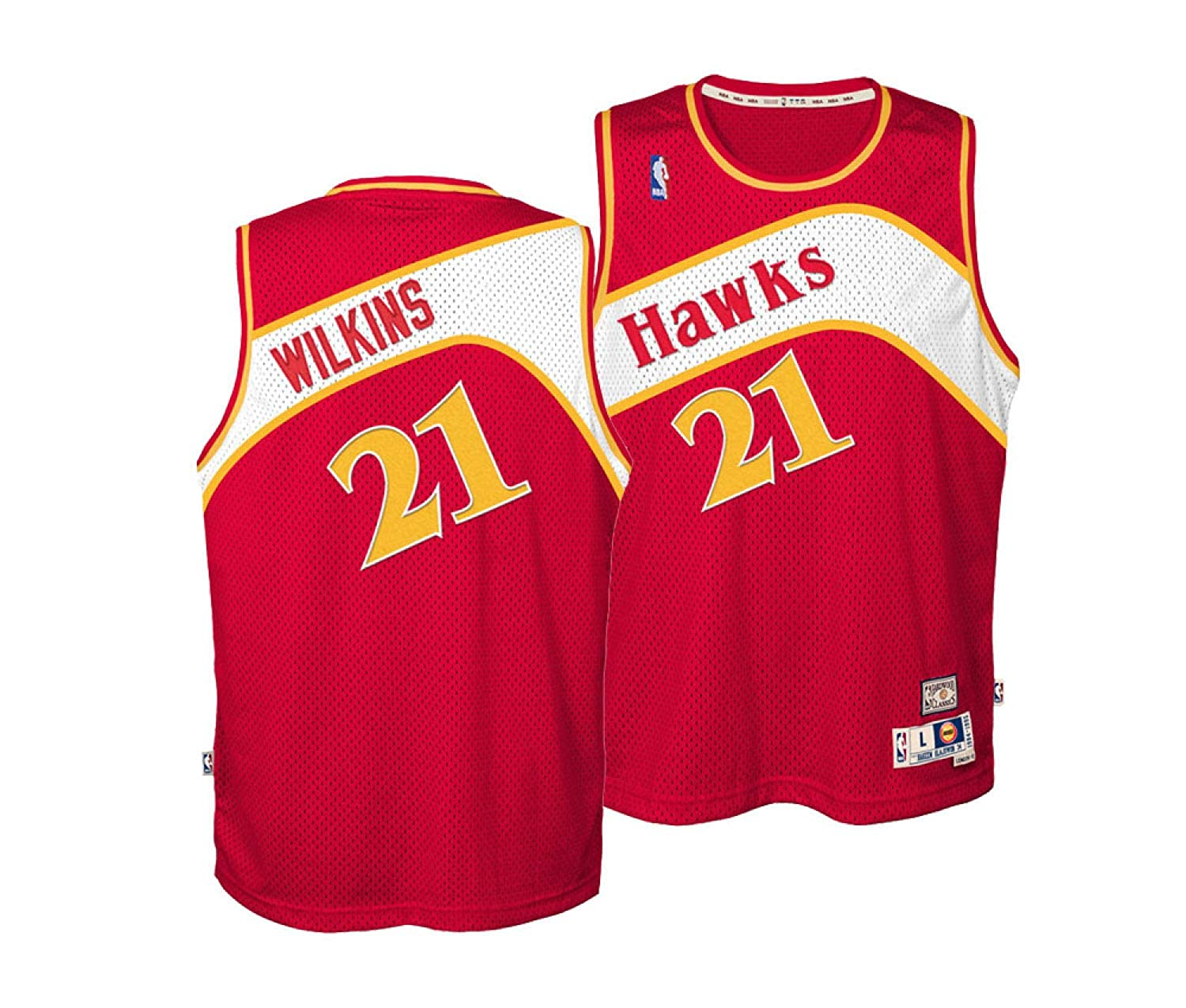 online store bbade 6d303 Amazon.com: Dominique Wilkins Atlanta Hawks Red Youth NBA ...
