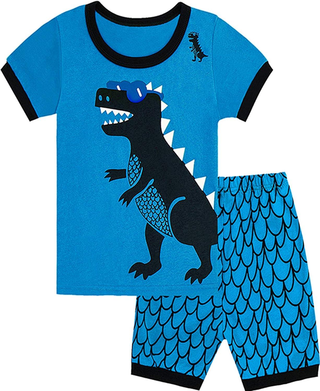 Qtake Fashion 1-12 Years Boys Pajamas Children Clothes Dinosaur Set 100/% Cotton Little Kids Pjs Sleepwear