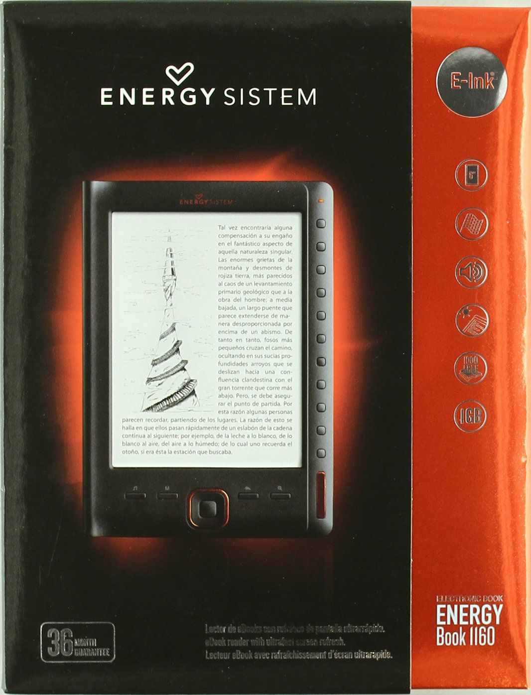 Energy Book 1160 - Lector Ebook - 1 Gb: Amazon.es: Electrónica