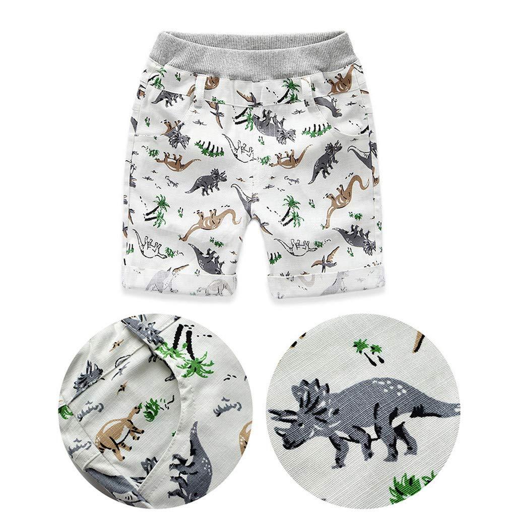 Julhold Infant Baby Boys Kids Cute Leisure Dinosaur Print Loose Shorts Beach Wear Bottom Cotton Pants Summer 1-5 Years