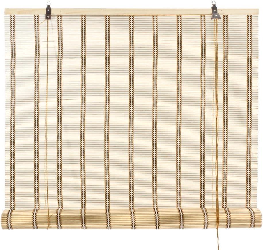 Bizzotto - Estor de caña de bambú con Hilo de algodón Blanco y ...