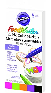 Amazon.com: Wilton FoodWriter Color Fine-Tip Edible Markers, 5-Piece ...