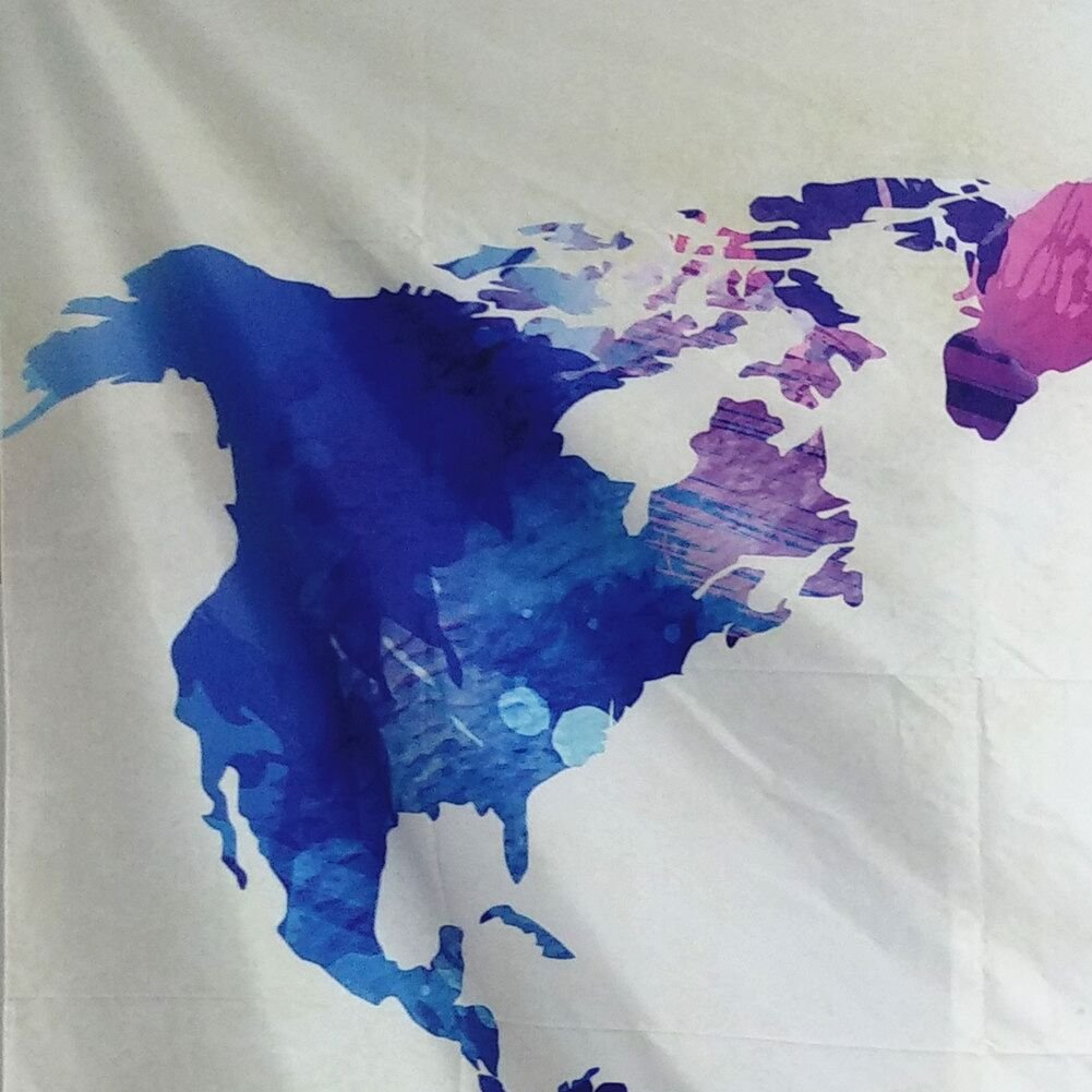 Ameyahud Tapestry World Map Tapestry Watercolor Map Tapestry Wall Hanging Vintage Colorful Tapestry Abstract Splatter Painting Tapestry for College Student Dorm Decor