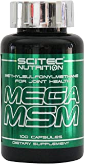 Scitec Mega MSM - Complemento de Glucosamina y Condroitina, 100 Capsulas
