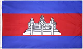 product image for Annin Flagmakers Model 191195 Cambodia Flag 3x5 ft. Nylon SolarGuard Nyl-Glo 100% Made in USA to Official United Nations Design Specifications.