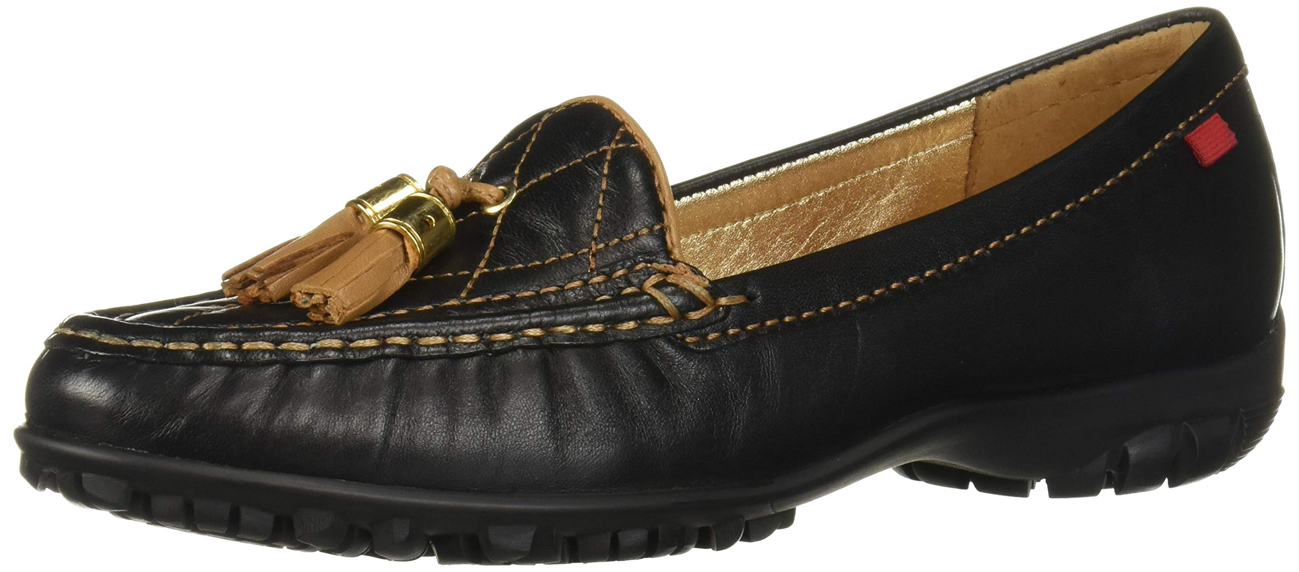 Marc Joseph New York Women's Womens Genuine Leather Made in Brazil Wall Street Golf Shoe Athletic Shoe, Black nappa/Tan, 6.5 M US by MARC JOSEPH NEW YORK