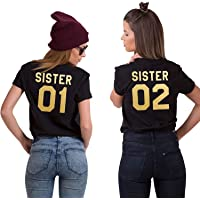 BFF Best Friends Shirts Dames Meisjes T-Shirt Sister 01 02
