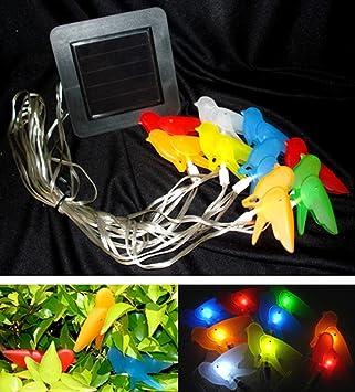 20 Foot Solar Birds Landscape LED Party String Lights