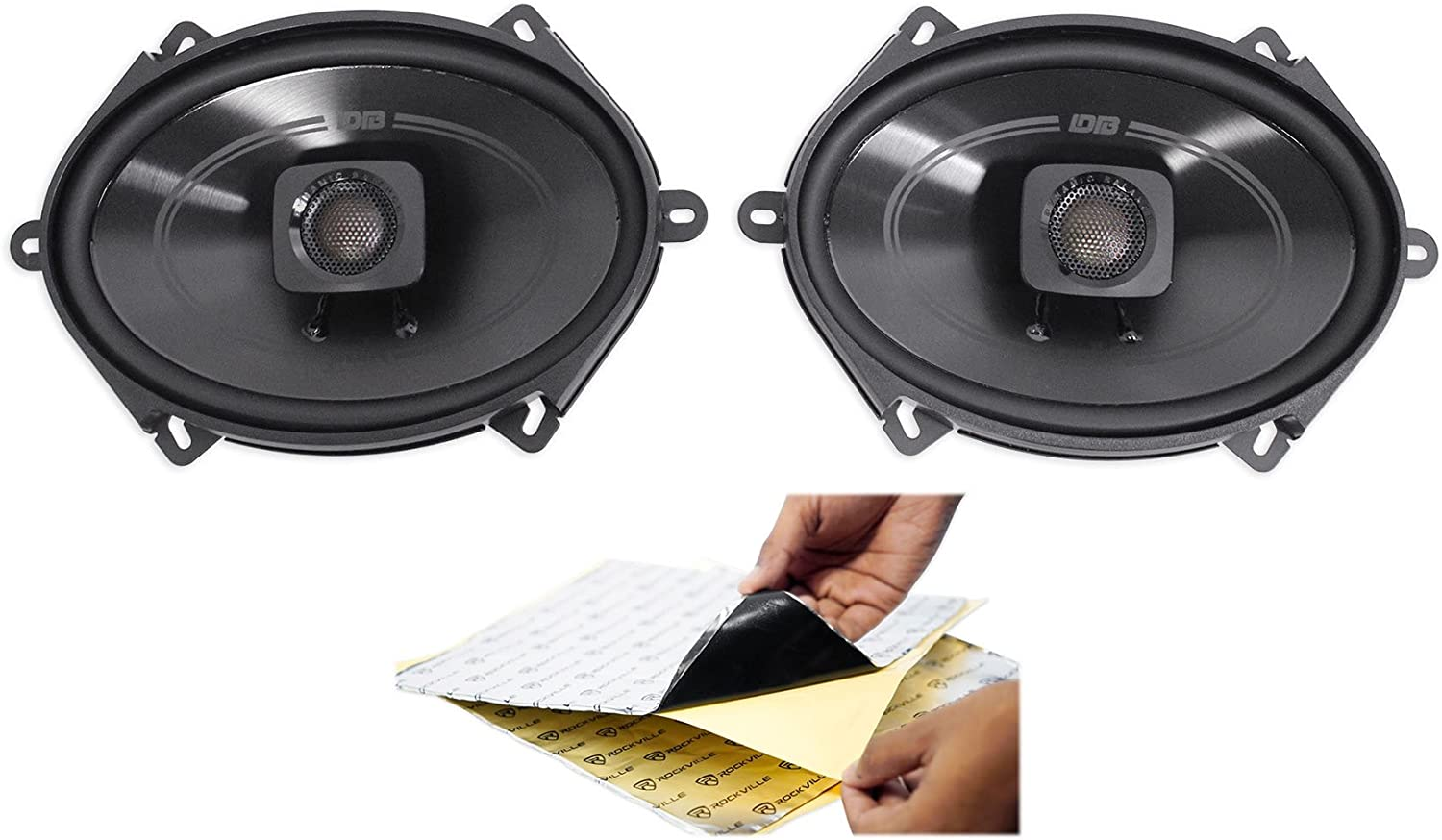 (2) Polk Audio DB572 5x7 225w Car Audio ATV/Motorcycle/Boat Speakers + Rockmat 71VfwOeXHlLSL1500_