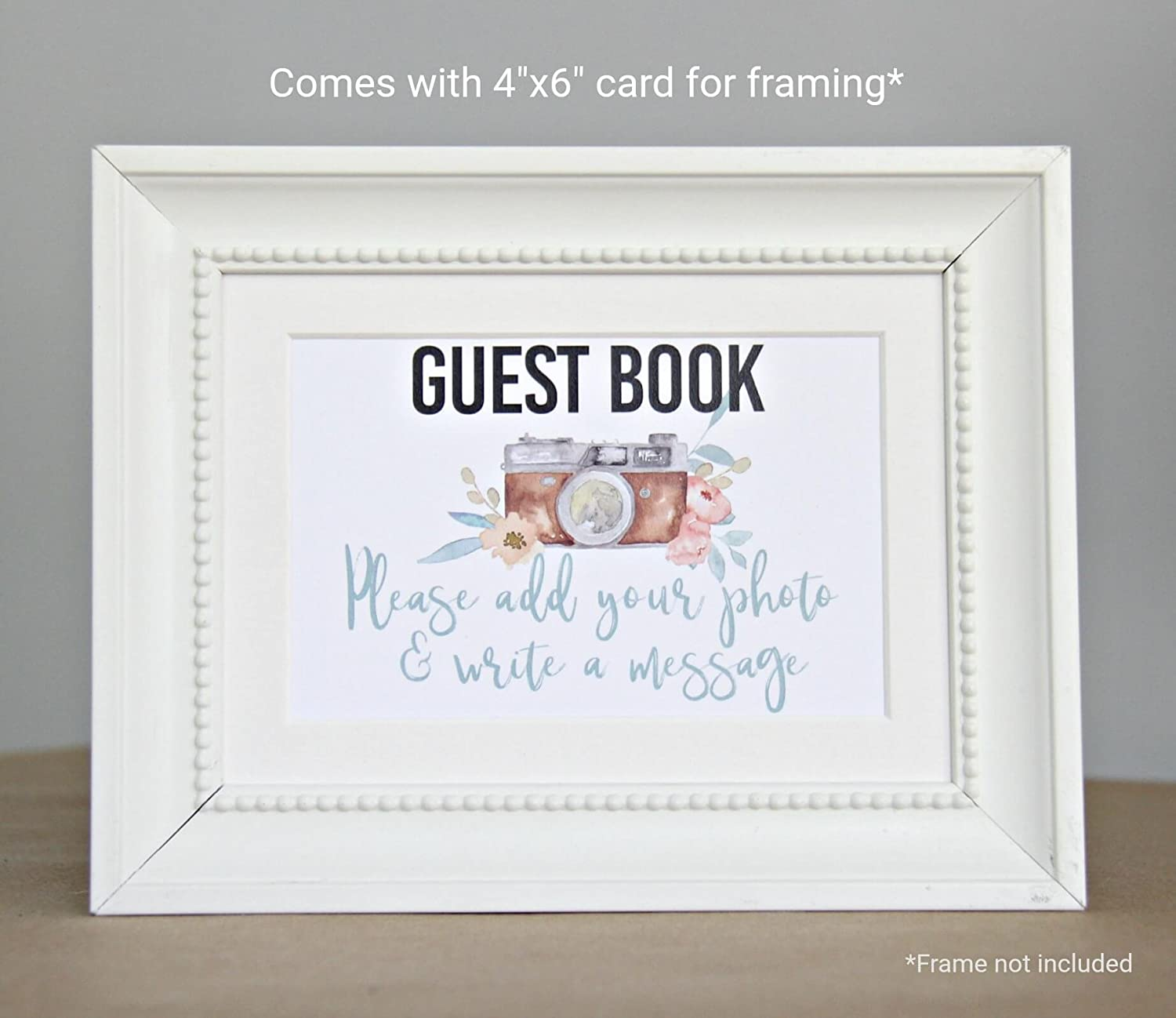 Rose Gold /& Grey Guest Book for Polaroid Pictures Grey Wedding Guest Book Photo Guest Book Instax Guest Book Anniversary Guest Book Rose Gold Wedding Decorations Modern Notebooks 130 Pgs 65 Sheets 8.5x7
