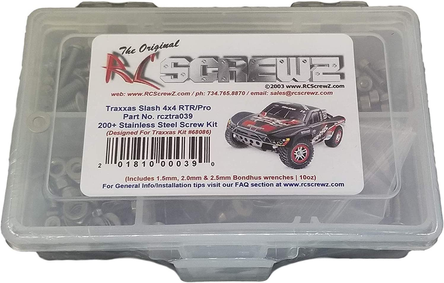 NEW RC Screwz Stainless Steel Screw Kit Traxxas E-Maxx TRA030 FREE US SHIP