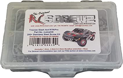 Amazon Com Rcscrewz Traxxas Slash 4x4 Stainless Steel Screw Kit Complete Replacement For Rc Car Rusted And Stripped Screws Professional Race Quality Upgrade Assembled In Usa Tra039 For Traxxas Kit 6808 68086 Toys