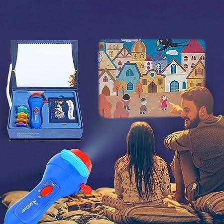 PROACC Actualizado Proyector para niños Historia Story Proyector Proyección Antorcha para Linterna Flashlight Juguete, Más Grande Imágenes Proyector, ...