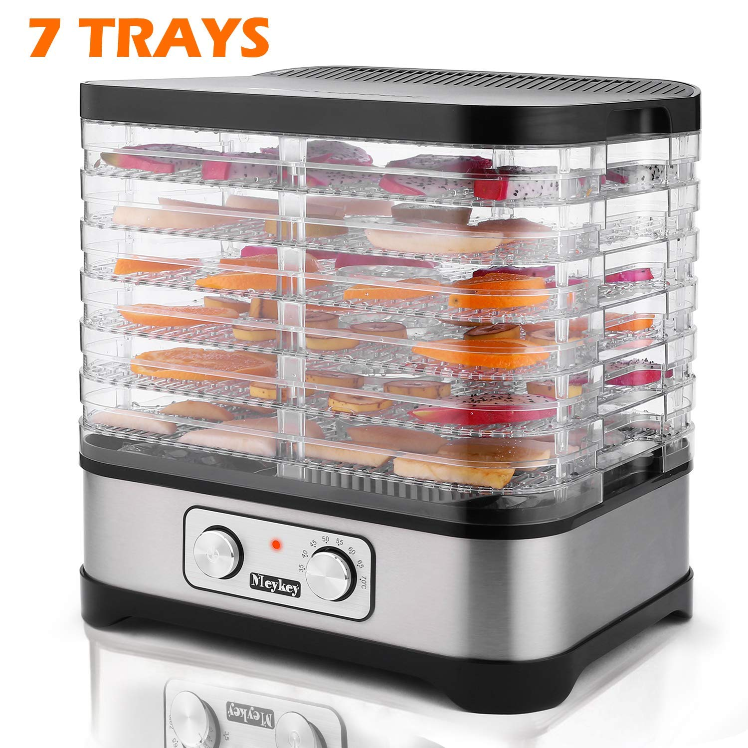 Food Dehydrator Machine, Food Dryer for Jerky/Meat/Beef/Fruit/Vegetable, Temperature Control, 7 Trays