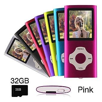 Ueleknight MP3 / MP4 Player con a Tarjeta Micro SD de 32GB,Pantalla LCD DE 1.8 Pulgadas,Reproductor de Música Digital Portátil Utilizado como ...