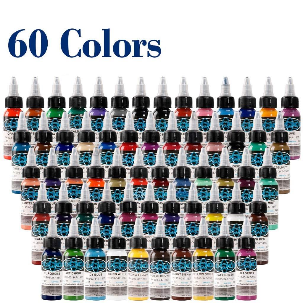 LVYY Tinta De Pigmento De Tatuaje Premium 60 Colores Básicos ...
