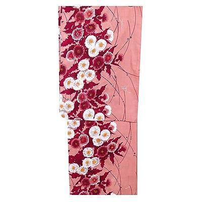 (ノーブランド品) 仕立上り レディース 浴衣 ゆかた 女性 フリーサイズ ピンク