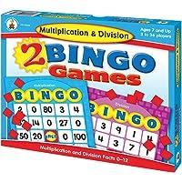 Carson-Dellosa 140039 Multiplication & Division Bingo