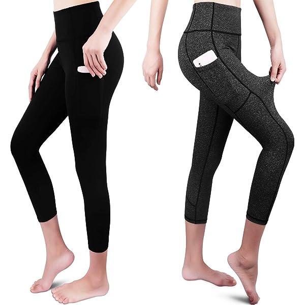 SEYO Yoga Pantalones Mujer Pantalones Deportivos Cintura Alta ...