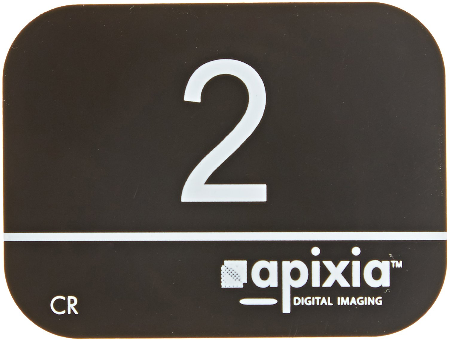 Apixia 10802 Black-Cardboard Plastic, Phosphor Plates, Size 2, 41mm  x 31mm, for Typical Intraoral X-rays (Pack of 1)