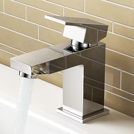 IBathUK Cloakroom Basin Sink Mixer Tap Chrome Modern Bathroom Faucet TB3200