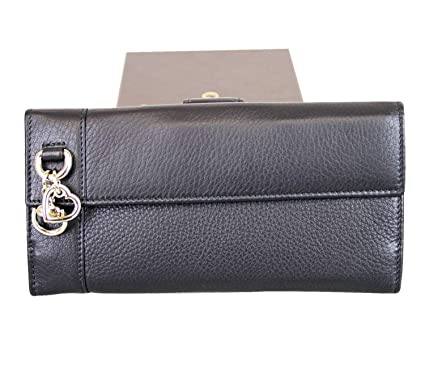 18848769a83734 Gucci Women's Continental Black Leather Charm Wallet 270027 1000 at ...