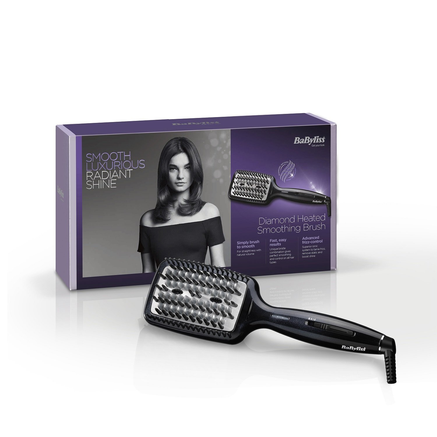 BaByliss Diamond Heated Smoothing and Straightening Brush