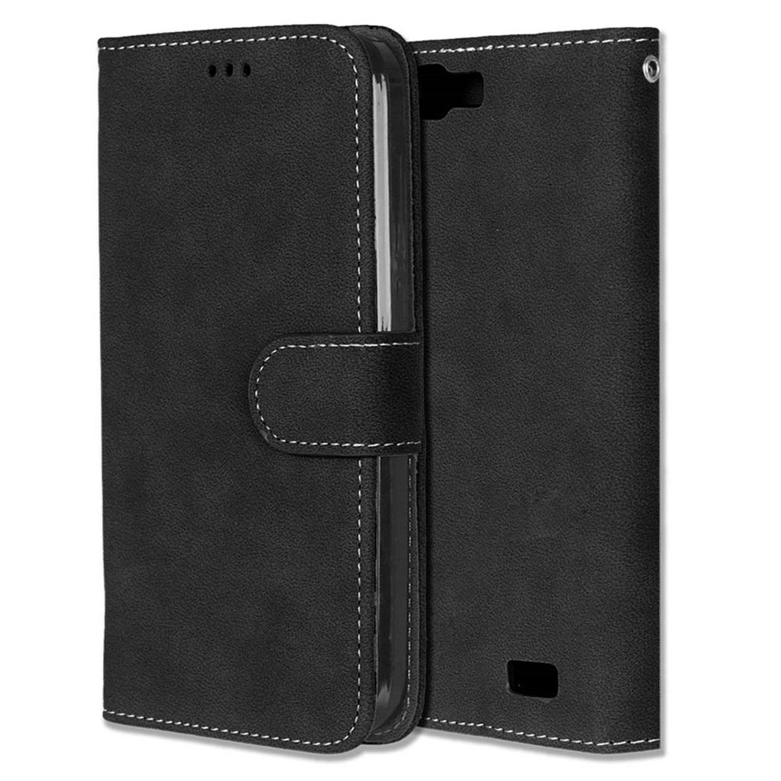 Chreey Matt Leder Tasche Retro Handyh/ülle Magnet Flip Case mit Kartenfach Geldb/örse Schutzh/ülle Etui Huawei Ascend G7 H/ülle Lila