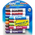12-Count EXPO Low-Odor Dry Erase Markers Chisel Tip