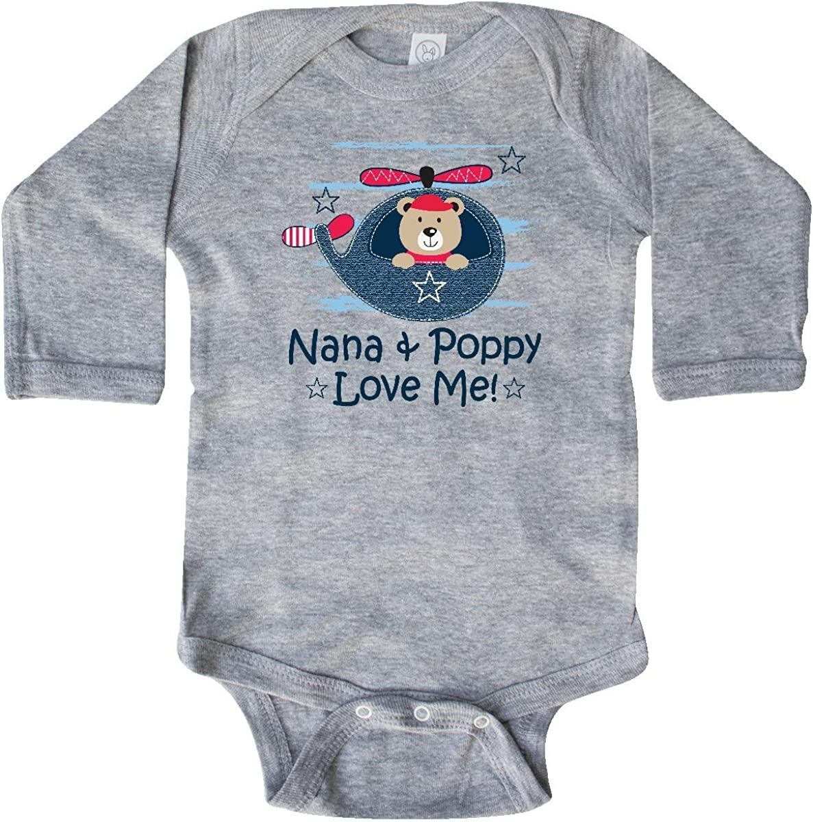 inktastic Nana and Poppy Love Me Outfit Long Sleeve Creeper