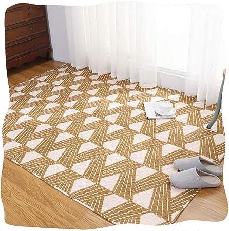 Alfombra Infantil Habitacion Bebe YANGJUN 100% Algodón Suave Antideslizante Cabecera Cobija Sencillo Lavable En La Lavadora Personalizable (Color : A, Size : 90x120cm): Amazon.es: Hogar