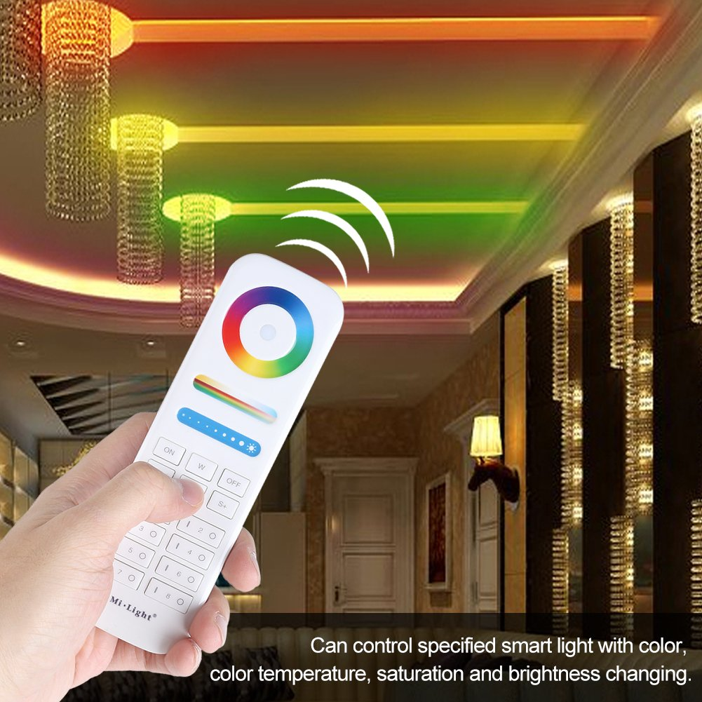 Wireless 2.4GHZ 8-Zone Remote Controller for Color Temperature Saturation Brightness Color Controlling