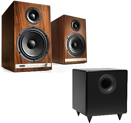 Audioengine HD6 Powered Bookshelf Speakers Pair S8 Black 8 Inch