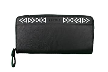 ESPRIT Damen Geldbörse Geldbeutel Portemonnaie schwarz