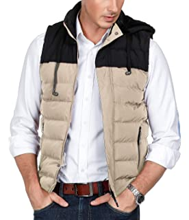 098a0057f5b PAUL JONES Men s Bodywarmer Sleeveless Padded Jacket Puffer Vest with  Removable Hood