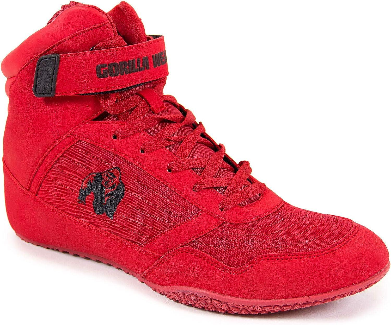 schwarzes Logo Rot Bodybuilding und Fitness Schuhe f/ür Damen und Herren Schwarzes 43 EU Gorilla Wear High Tops Red rot